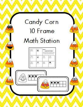 Candy Corn 10 Frame Math Station