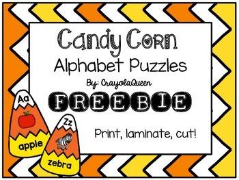 Candy Corn ABC Puzzles [FREEBIE]