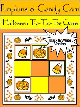 Candy Corn Activities: Pumpkins & Candy Corn Halloween Tic