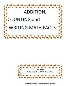 Candy Corn Addition,Counting, and Writing Math Facts Worksheets