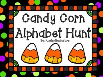 Alphabet Hunt Halloween Candy Corn