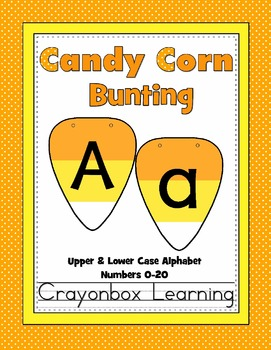 Candy Corn Bunting - A-Z (Upper and Lower Case) Numbers 0-20