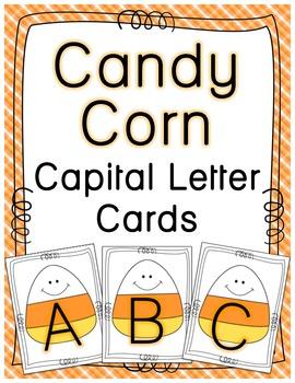 Candy Corn Capital Letter Flashcards {FREEBIE}