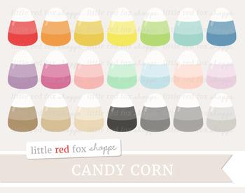 Candy Corn Clipart; Halloween