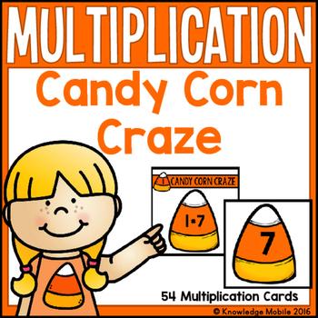 Candy Corn Craze - 54 Free Multiplication Task Cards