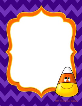 FREEBIE Candy Corn Cutie with fun trendy frame
