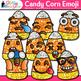 Candy Corn Emoji Clip Art {Halloween Emoticon & Smiley Fac