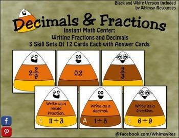 Fall Decimals & Fractions