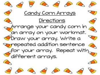 Candy Corn (Halloween) Arrays Math Center