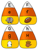 Candy Corn Letter Identification Puzzles