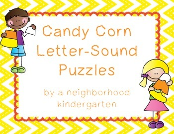 Candy Corn Letter Sound Puzzles - Ink Saving Options!