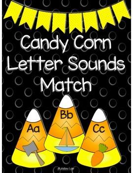 Candy Corn Letter Sounds Match