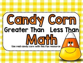 Candy Corn Math Greater Than Less Than