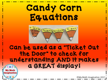 Candy Corn Math - Two-Step Equations
