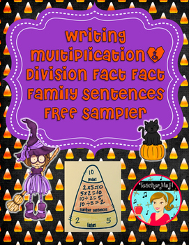 Multiplication and Division Fact Family Sentences FREE ~ C