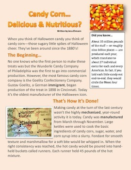 Candy Corn Nonfiction Article
