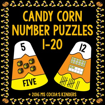 Halloween Number Puzzles 1-20