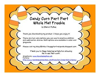 Candy Corn Part Part Whole Mat