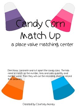 Candy Corn Place Value Match Up
