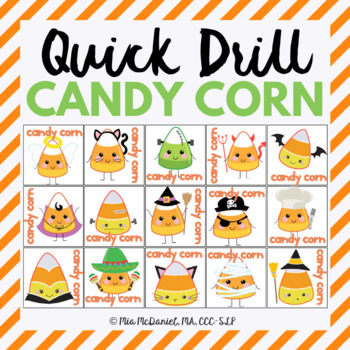 Candy Corn Quick Drill {for articulation or fluency therap