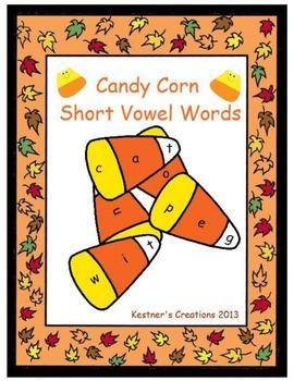 Candy Corn Short Vowel Activity Center CVC