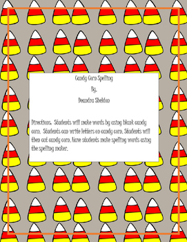 Candy Corn Spelling