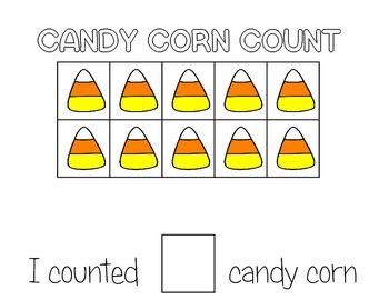Candy Corn Tens Frame Match