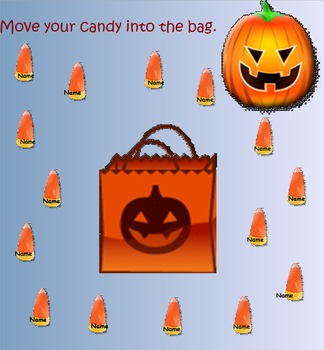 Candy Corn Trick or Treating Attendance