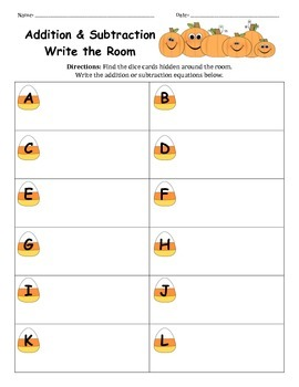 Candy Corn Write the Room