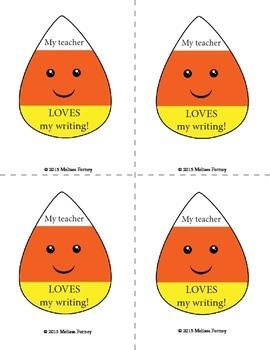 Candy Corn Writing Validations FREE!!!