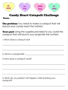 Candy Heart Catapult Challenge- Valentine's Day
