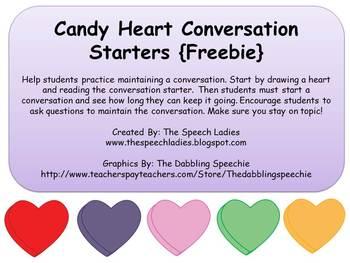 Candy Heart Conversation Starters