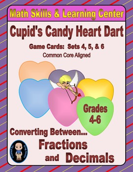Candy Heart Dart Game Cards (Converting Fractions to Decim