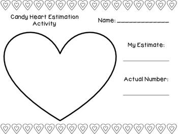 Candy Heart Estimation Activity