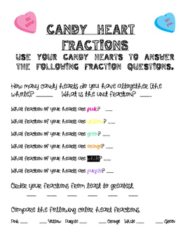 Candy Heart Fraction (Valentine's Day Math)