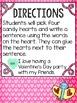 Candy Heart Writing