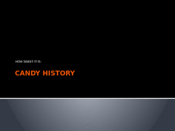 Candy History Project