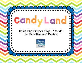 Candy Land Cards:  Dolch Pre-Primer