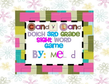 Candy Land Dolch Third Grade Sight Word Game