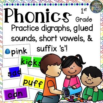 Candy Land: CVC, Digraphs, Glued Sounds, Suffix 's', Short vowels