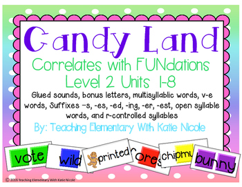 Candy Land: glued sounds, bonus letters, multisyllabic wor
