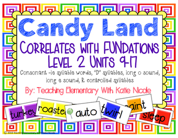 "Candy Land: le words, ""D"" syllables, long 'o' and 'e', & r"