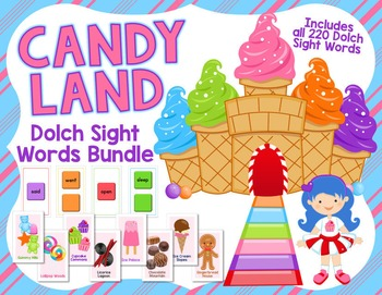 Candy Land Game - Dolch Sight Words Bundle: All 220 Dolch
