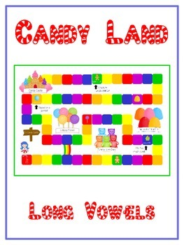 Candy Land - Long Vowels - Word Work Folder Game - Common