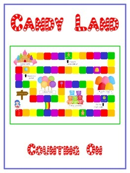 Candy Land Math Folder Game - Common Core - Counting On Fr