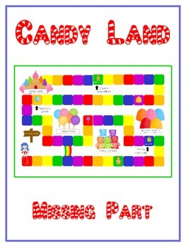 Candy Land Math Folder Game - Common Core - Finding the Mi