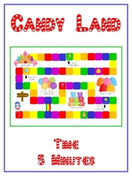 Candy Land Math Folder Game - Common Core - Telling Time w
