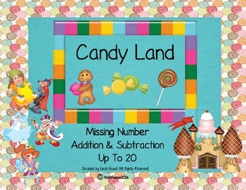 Candy Land Missing Number Addition & Subtraction (Up to 20)