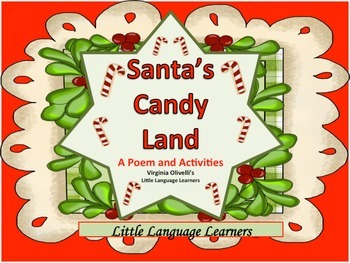Candy Land Poems and Activities -ELL Newcomers Too!
