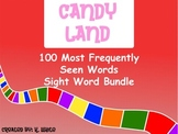 Candy Land Sight Word Bundle (4 different games using 100 words)